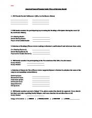 Liturgical Funeral Planning Guide (Mass of Christian Burial) 1. Will