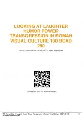 looking at laughter humor power transgression in ...  AWS