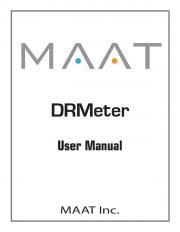 MAAT • DRMeter — User Manual