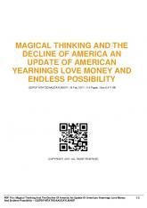 magical thinking and the decline of america an update ...  AWS