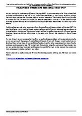 mckinsey problem solving test pdf