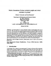 Metric dimensions of minor excluded graphs and minor exclusion in ...
