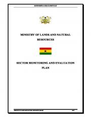 ministry of lands and natural resources sector monitoring and