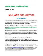 MLK And Eco Justice