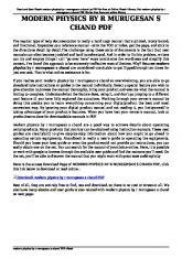 modern physics by r murugesan s chand pdf