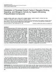 Modulation of Fibroblast Growth Factor-2 Receptor ... - CiteSeerX
