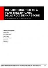 mr partridge tied to a pear tree by cara delacroix