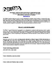 NATIONAL FORUM FOR BLACK PUBLIC ADMINISTRATORS 777 North Capitol
