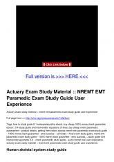 NREMT EMT Paramedic Exam Study Guide User Experience