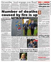 Number of deaths caused by fire is up