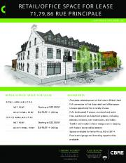 office space for lease 71,79,86 rue principale - SLIDEBLAST.COM