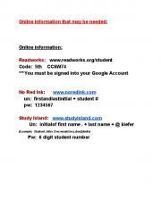 Online information: Readworks