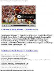 Pac12 Stream Delaware Vs Wake Forest Online Stream Ncaa ...