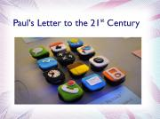Paul's Letter to the 21st Century
