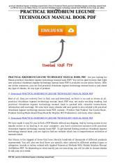 practical rhizobium legume technology manual book pdf