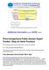 Price Comparisons Public Domain Expert Toolbar