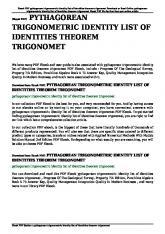 pythagorean trigonometric identity list of identities theorem