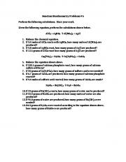 Reaction Stoichiometry Problems #5 Perform the