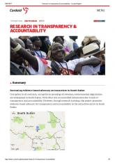 research in transparency & accountability