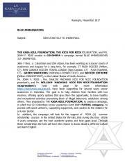 Rionegro,!November!2017! ! BLUE%AMBASSADORS ...  AWS