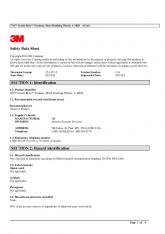 Safety Data Sheet SECTION 1: Identification SECTION 2: Hazard ... - 3M