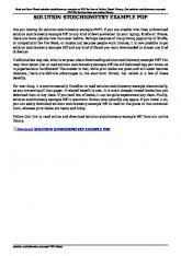 solution stoichiometry example pdf