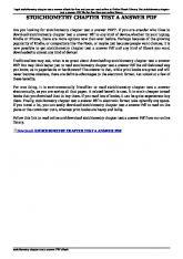 stoichiometry chapter test a answer pdf