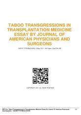 taboo transgressions in transplantation medicine ...  AWS