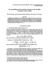 The probability that the number of points on the ... - Semantic Scholar