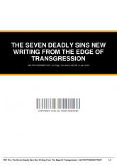 the seven deadly sins new writing from the edge of transgression 329