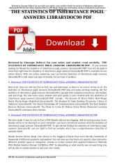the statistics of inheritance pogil answers librarydoc90 pdf