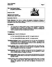 Town of Hardisty Policy 6102 Page 1 Title: Real Property Report