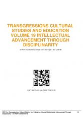 transgressions cultural studies and education ...  AWS