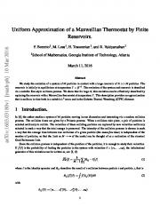 Uniform Approximation of a Maxwellian Thermostat by Finite Reservoirs