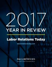 year in review - Labor Relations Today